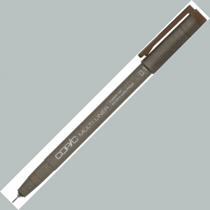 Copic® Multiliner (Disposable) Pen Brown 0.3mm: Brown, Pigment, .3mm, Fine Nib, Multi, (model MLBR03), price per each