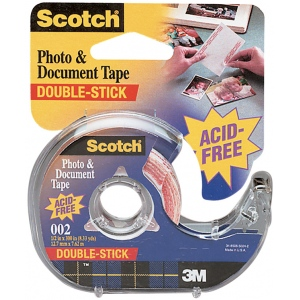 "Scotch® Photo & Document Tape: Dispenser, Double-Sided, 1/2"", (model 002), price per each"