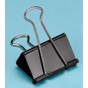 "Alvin® Binder Clips 2"": Black/Gray, 2"", (model 100260), price per box"