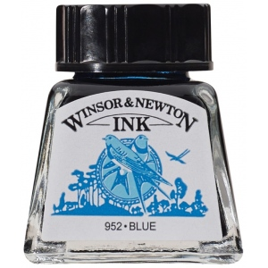 Winsor & Newton™ Drawing Ink 14ml Blue: Blue, Bottle, 14 ml, Drawing Ink, (model 1005032), price per each