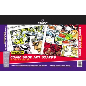 "Canson® FanBoy™ Comic Book Art Board Sheet Pad: Fold Over, White/Ivory, Pad, 24 Sheets, 11"" x 17"", (model C100510872), price per 24 Sheets pad"