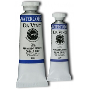 Da Vinci Artists' Watercolor Paint 15ml Cobalt Blue: Blue, Tube, 15 ml, Watercolor, (model DAV234F), price per tube