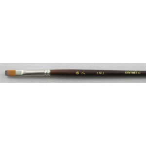Trinity Brush Synthetic Hair 3103: Flat Brush
