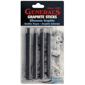 General's® Graphite Sticks: Black/Gray, Stick, Drawing Lead, (model 970ABP), price per pack