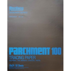 "Bienfang® 19"" x 24"" Parchment Tracing Pad: Pad, 50 Sheets, 19"" x 24"", Tracing, (model 240161), price per 50 Sheets pad"
