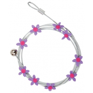 "Mishu Mighty Magnet Photo Cable Purple Flowers: Purple, 57"", Flower, Cable"