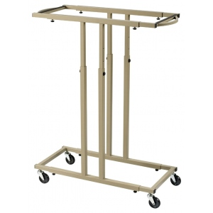 Alvin® Mobile Racks for up to 12 Blueprints: 12 Hanging Clamps, Brown, Steel, (model BPR059-12), price per each