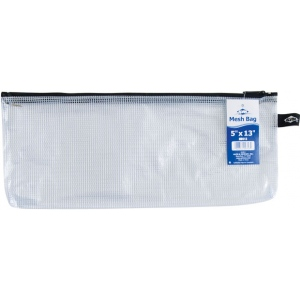"Alvin® NB Original Series Mesh Bag 5"" x 13"": Assorted, Clear, Mesh, Vinyl, 5"" x 13"", (model NB513), price per each"
