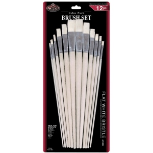 Royal & Langnickel® White Bristle Brush Sets