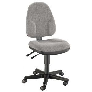 "Alvin® Medium Gray High Back Office Height Monarch Chair: No, Black/Gray, No, Under 24"", Fabric, (model CH555-60), price per each"