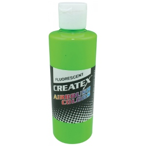 Createx™ Airbrush Paint 2oz Fluorescent Green: Green, Bottle, 2 oz, Airbrush, (model 5404-02), price per each