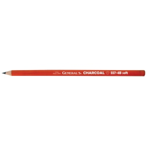 General's® Charcoal Pencil 4B: Black/Gray, 4B, Pencil, (model 557G-4B), price per dozen (12-pack)