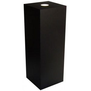 "Xylem Black Laminate Spot Lighted Pedestal: 18"" x 18"" Base, 24"" Height"