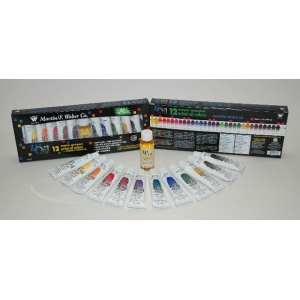 wOil Paint Water Mixable Oil Color Tubes: 37ml, Set of 12