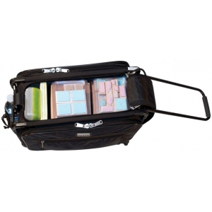Tutto® Storage on Wheels Medium Tote Bag with Interior Pockets: Black/Gray, Medium, (model 4220CF-M), price per each