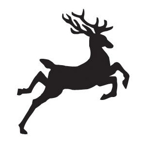 Sarasota Stamps Mounted Rubber Stamp Jumping Reindeer: Rubber, Mounted, (model SSB-3483), price per each