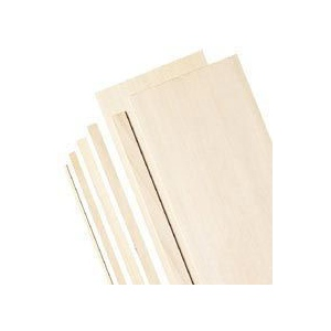 "Alvin® 4"" Bass Wood Sheets 1/32"": Sheet, 5 Sheets, 4"" x 24"", 1/32"""