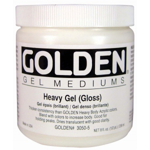 Golden® Gloss Heavy Gel Medium 8 oz.: Matte, 236 ml, 8 oz, Gel, (model 0003050-5), price per each