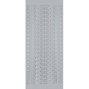 "Blue Hills Studio™ DesignLines™ Outline Stickers Silver #4: Metallic, 4"" x 9"", Outline, (model BHS-DL004), price per pack"