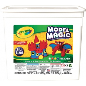 Crayola® Model Magic® Resalable Bucket 2lb Primary: Multi, 8 oz, Craft, (model 57-4415), price per each