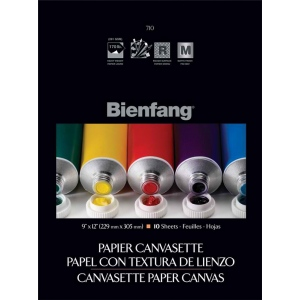 "Bienfang® 9 x 12 Paper Canvasette Pad: Pad, 10 Sheets, 9"" x 12"", (model R270121), price per 10 Sheets pad"