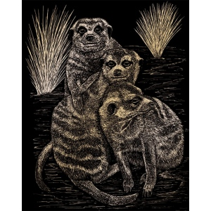 "Royal & Langnickel® Engraving Art Set Gold Foil Meer Cats: 8"" x 10"", Metallic, (model GOLF22), price per set"
