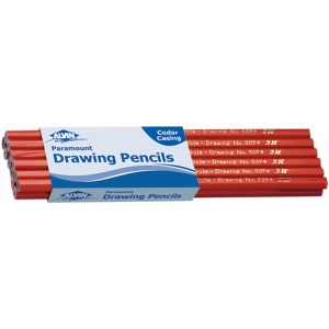 Alvin® Paramount Circle Drawing Pencil 2B: Black/Gray, 2B, Drawing, (model 5054-2B), price per dozen (12-pack)