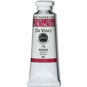 Da Vinci Artists' Gouache Opaque Watercolor 37ml Magenta: Red/Pink, Tube, 37 ml, Gouache, Watercolor, (model DAV450), price per tube