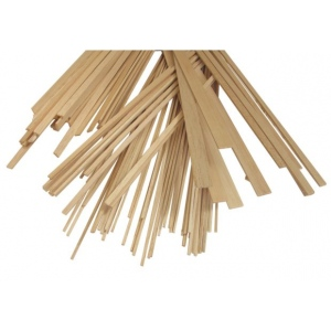 "Alvin® Bass Wood Strips 1/2 x 1/2: Strip, 5 Strips, 1/2"" x 1/2"", 24"", (model WS1200), price per 5 Strips"