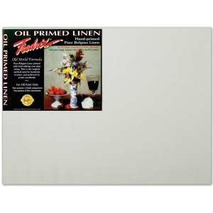 "Fredrix® PRO Series 12 x 16 Archival Oil Primed Linen Board: White/Ivory, Panel/Board, 12"" x 16"", Archival, (model T3396), price per each"