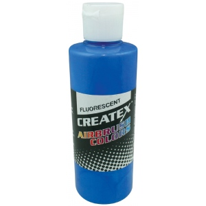 Createx™ Airbrush Paint 4oz Fluorescent Blue: Blue, Bottle, 4 oz, Airbrush