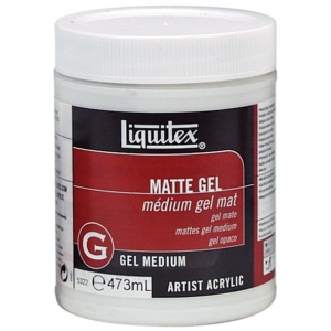 Liquitex® Matte Gel Medium 16oz: Matte, 16 oz, Gel, (model 5322), price per each