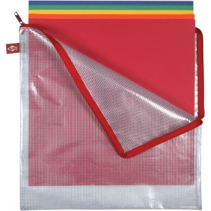 "Alvin® NB Original Series Mesh Bag 13"" x 13"" : Assorted, Clear, Mesh, Vinyl, 13"" x 13"", (model NB1313), price per each"