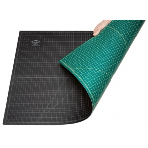"Alvin® GBM Series 8 1/2"" x 11"" Green/Black Professional Self-Healing Cutting Mat: Black/Gray, Green, Grid, Vinyl, 8 1/2"" x 12"", 3mm, Cutting Mat, (model GBM0812), price per each"