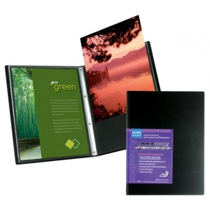 "Itoya® Art Profolio® Advantage 11"" x 14"" Presentation/Display Book: Black/Gray, Polypropylene, 24 Pages, 11"" x 14"""