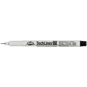 Alvin® TechLiner Technical Drawing Marker .3mm: Black/Gray, .3mm, Fine Nib, Technical, (model TL03), price per each