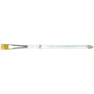 Royal & Langnickel® Aqualon Taklon Watercolor and Acrylic Brush Wisp Brush 1/2: Best, Short Handle, Taklon, Wisp Brush, Acrylic, Watercolor