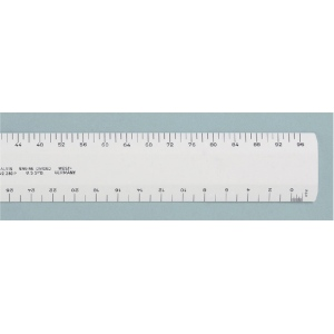 "Alvin® 280 Series 12"" White Plastic Flat Architect Scale: White/Ivory, Plastic, 12"", Architect, (model 280P), price per each"