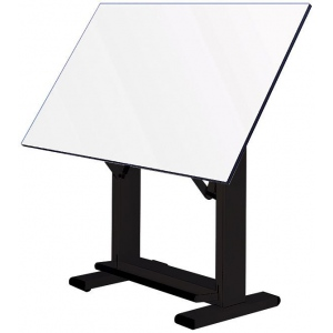 "Alvin® Elite Table Black Base White Top 36"" x 48"": 0 - 85, Black/Gray, Steel, 38"" - 45"", White/Ivory, Melamine, 36"" x 48"", (model ET48-3), price per each"