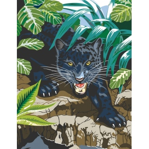 "Royal & Langnickel® Painting by Numbers™ 8 3/4 x 11 3/8 Junior Small Set Black Leopard: 8 3/4"" x 11 3/8"""
