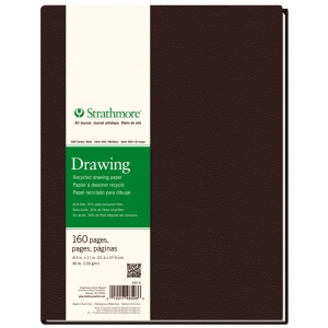 "Strathmore® 400 Series 8 1/2"" x 11"" Sewn Bound Recycled Drawing Art Journal: White/Ivory, Journal, 160 Sheets, 8 1/2"" x 11"", Drawing, (model ST465-8), price per each"