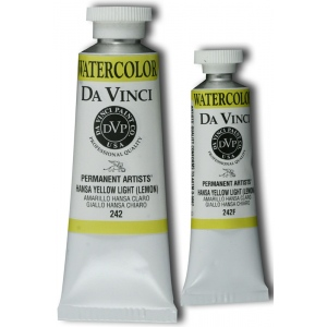 Da Vinci Artists' Watercolor Paint 37ml Hansa Yellow Light: Yellow, Tube, 37 ml, Watercolor