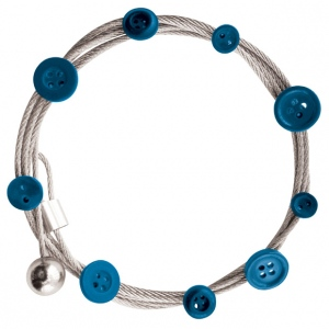 "Mishu Mighty Magnet Photo Cable Blue Buttons: Blue, 57"", Circle, Cable, (model M901), price per each"