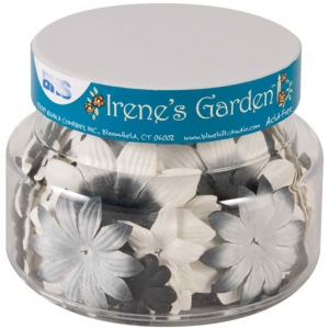 "Blue Hills Studio™ Irene's Garden™ Jar O'Blooms Black & White: Black/Gray, White/Ivory, Paper, 2 1/2"", Dimensional, (model BHS809), price per each"
