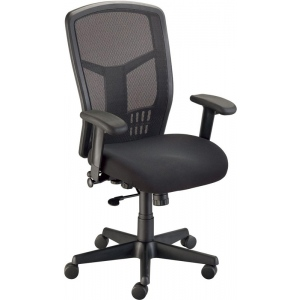 "Alvin® Van Tecno Manager's Chair: Arm Rest Included, Black/Gray, No, Under 24"", Fabric, (model CH750), price per each"