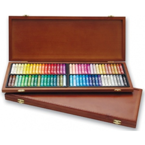 Gallery Oil Pastel 72 Color Set in Wooden Case: Model # MOP-72W