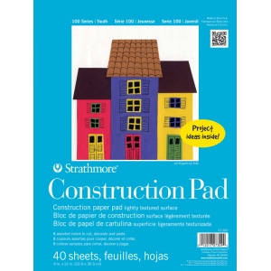 "Strathmore 9"" x 12"" Tape Bound Construction Paper Pad"