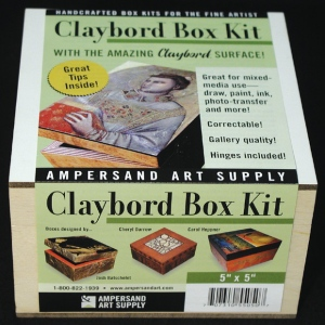 "Ampersand Claybord Smooth Box Kit: 5"" x 7"", Case of 4"