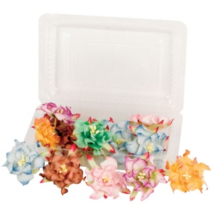 "Blue Hills Studio™ Irene's Garden™ Box O'Gardenias Dimensional Paper Flowers Fruit Punch: Red/Pink, Paper, 2"", 3"", Dimensional, (model BHS107525), price per box"