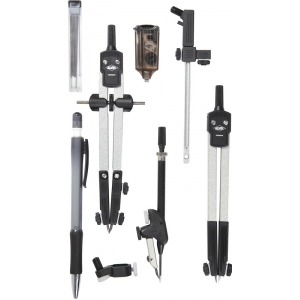 "Alvin® Combination Universal Speed-Bow Set: 1/8"" - 21"", 6"", Compass/Divider, (model 729JS), price per set"